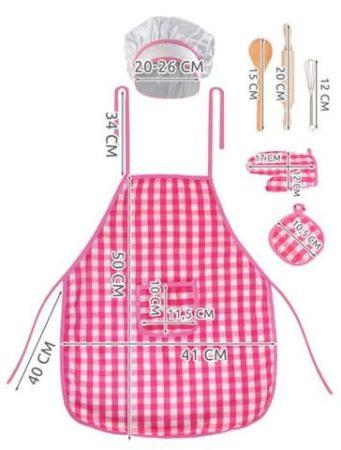 Kislány főzés szett kiegészítőkkel szakács szett  jelmez