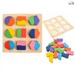 Oktatási puzzle oktatási készlet színes geometriai alakzatok, méretek 15x15 cm