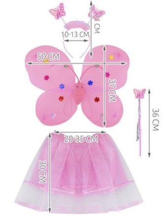 4 részes pillangó öltözet kislányoknak pillangó jelmez
