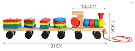 Fa vonat forma válogató fa készségfejlesztő játék