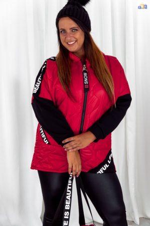 Roble piros steppelt női kabát