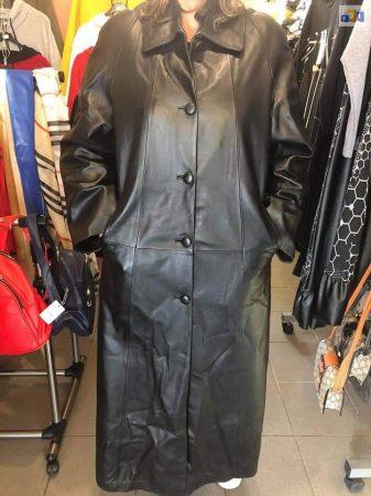 Hosszú műbőr kabát, végig bélelt új
