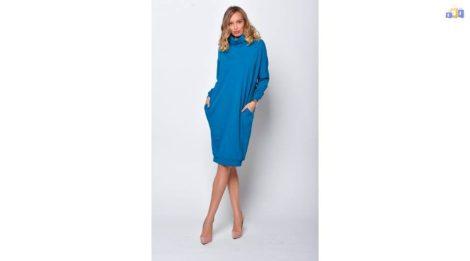 Garbós tunika petrol női ruha új, címkés