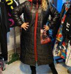 Hosszú steppelt trendi női kabát 50-52 méret Párizs